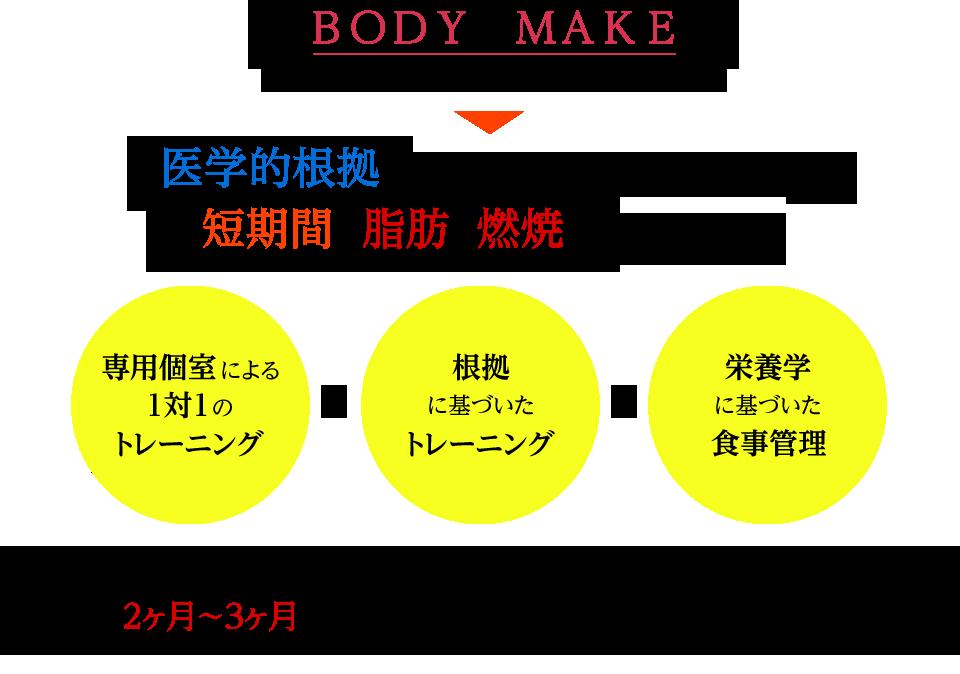 パーソナルトレーニング ボディメイクコース 医学的根拠に基づいたトレーニングを行って短期間で脂肪を燃焼させませんか?